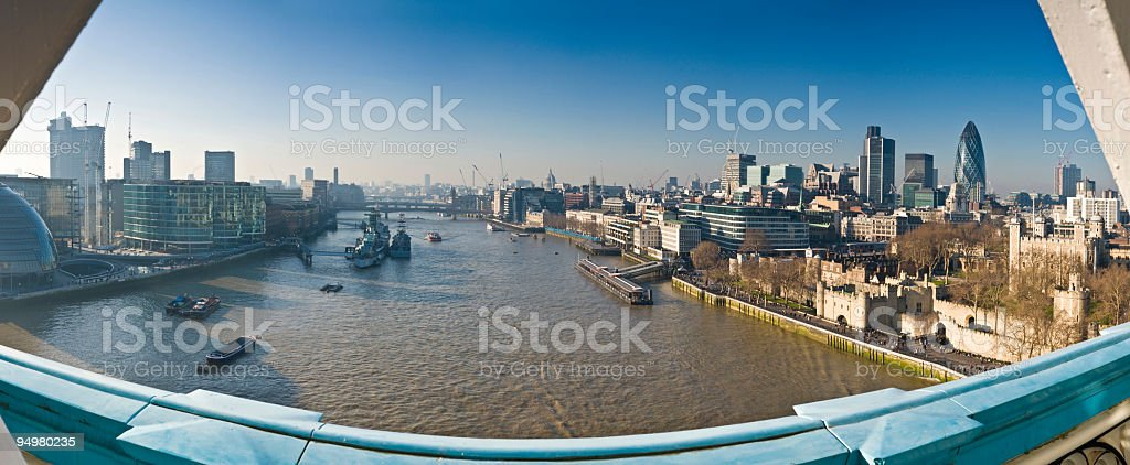 View from Tower Bridge London royalty-free stock photo