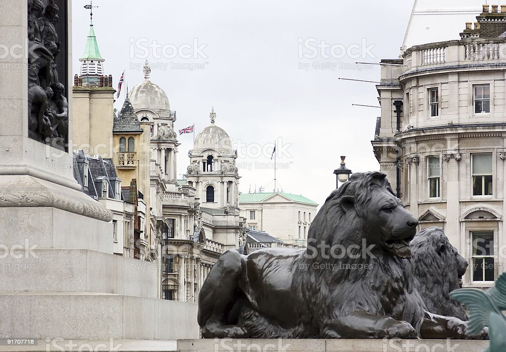 View from Trafalgar Square stock photo