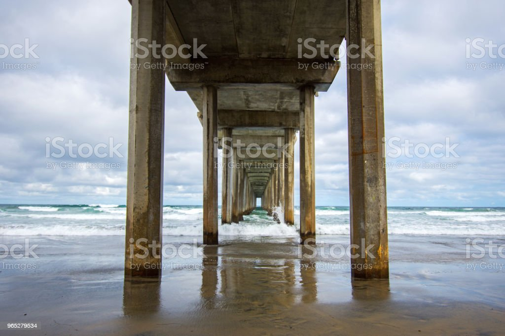 View from under a pier. royalty-free stock photo