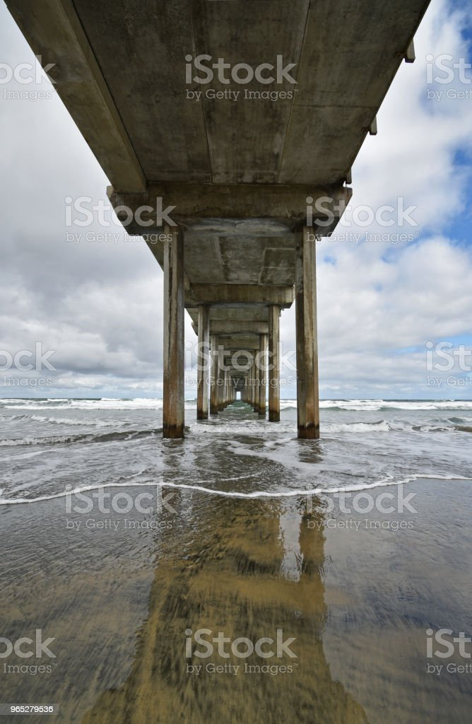 View from under a pier. zbiór zdjęć royalty-free