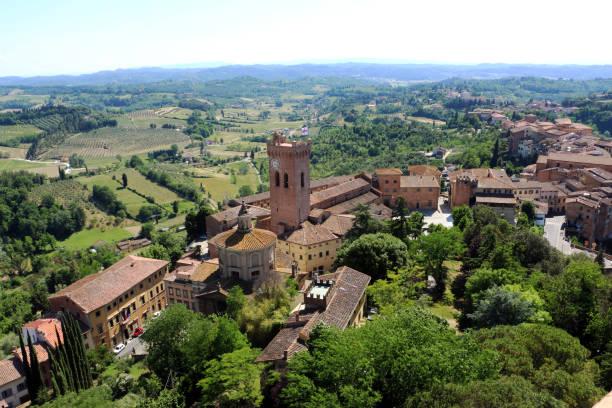 Blick von oben auf San Miniato, Toskana, Italien – Foto