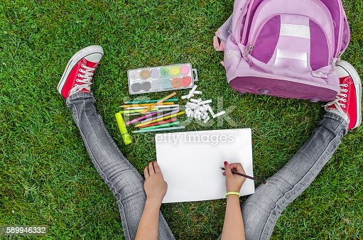istock view from up on school supplies 589946332