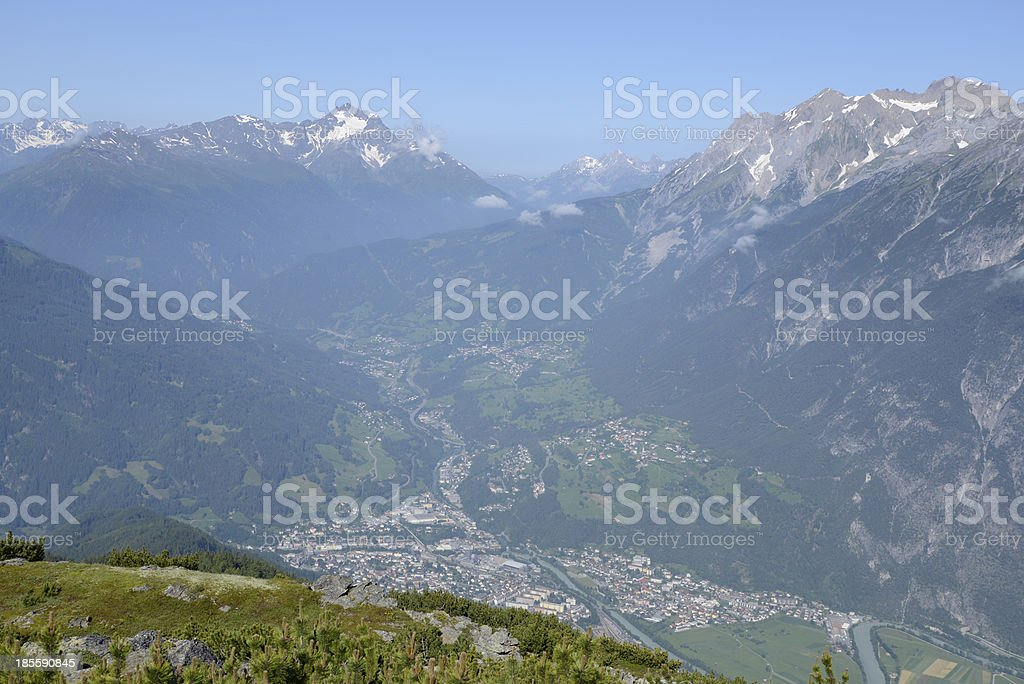 View from Venet, Austria royalty-free stock photo