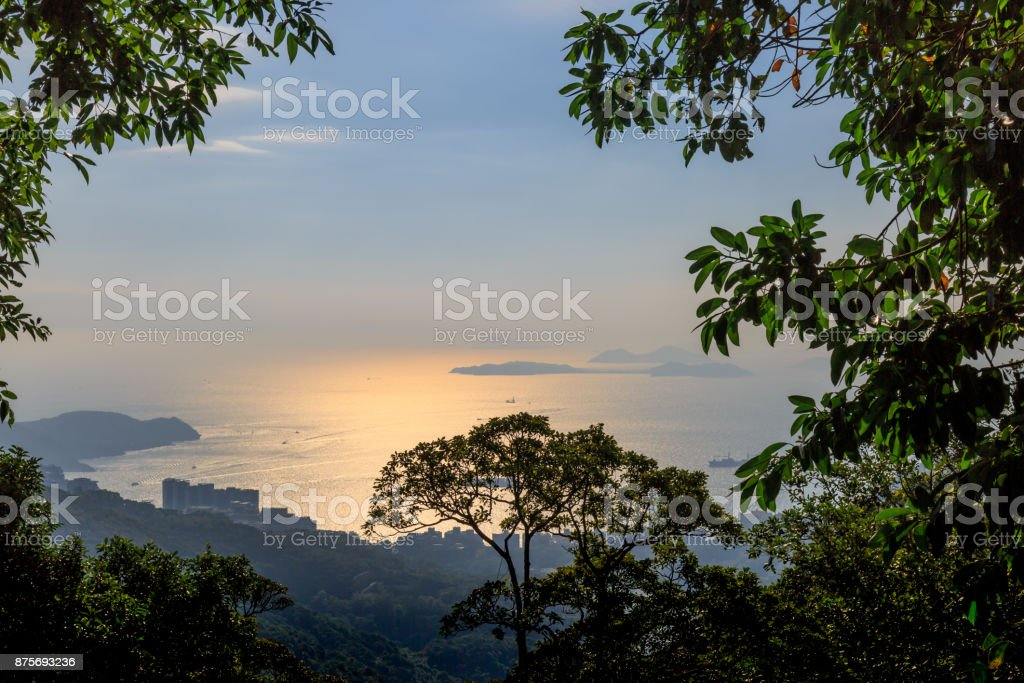 View From Victoria Peak stock photo