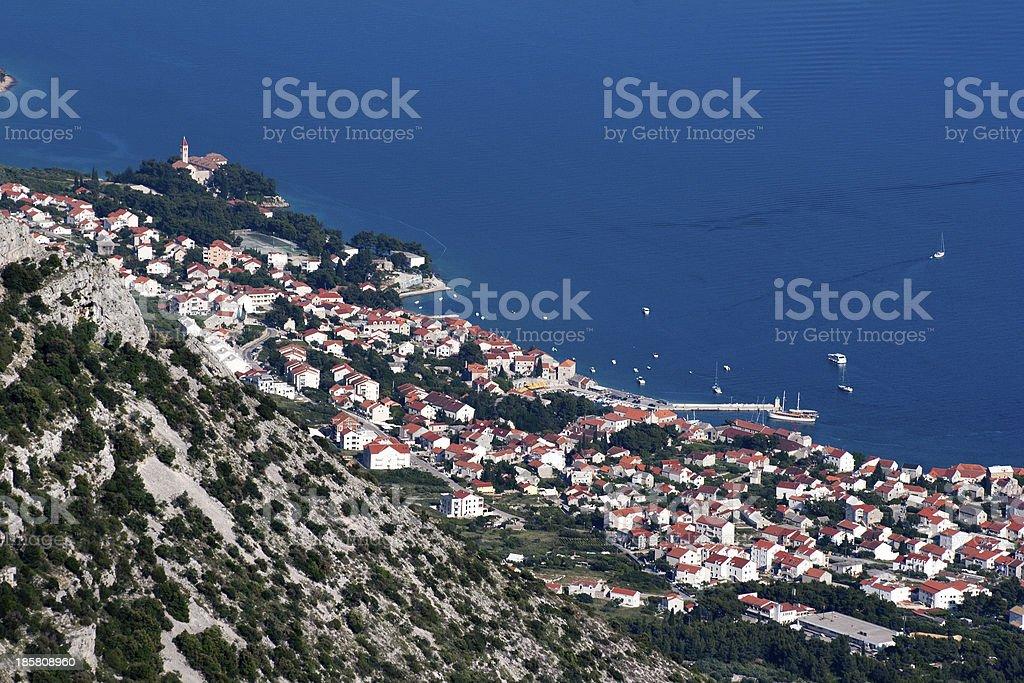 View from Vidova Gora royalty-free stock photo