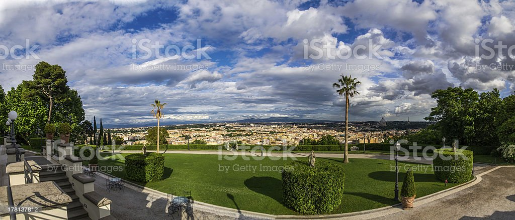 View from Villa Miani, Rome, Italy royalty-free stock photo