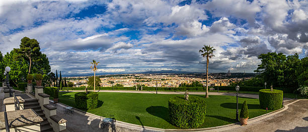 View from Villa Miani, Rome, Italy stock photo