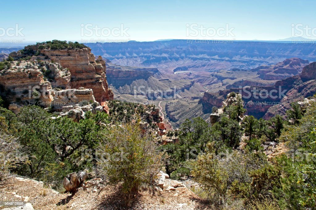 View from Walhalla Overlook, Grand Canyon National Park, Arizona, USA royalty-free stock photo