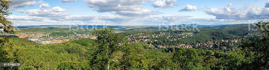 View from Wartburg - Eisenach stock photo