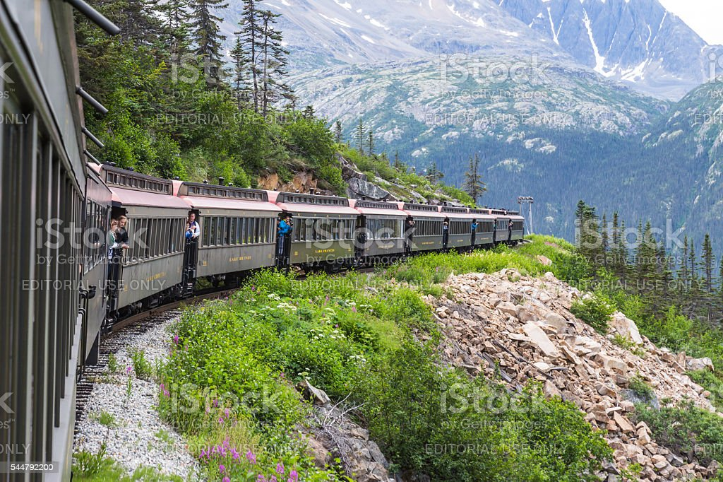 View from White Pass and Yukon Route Rail stock photo
