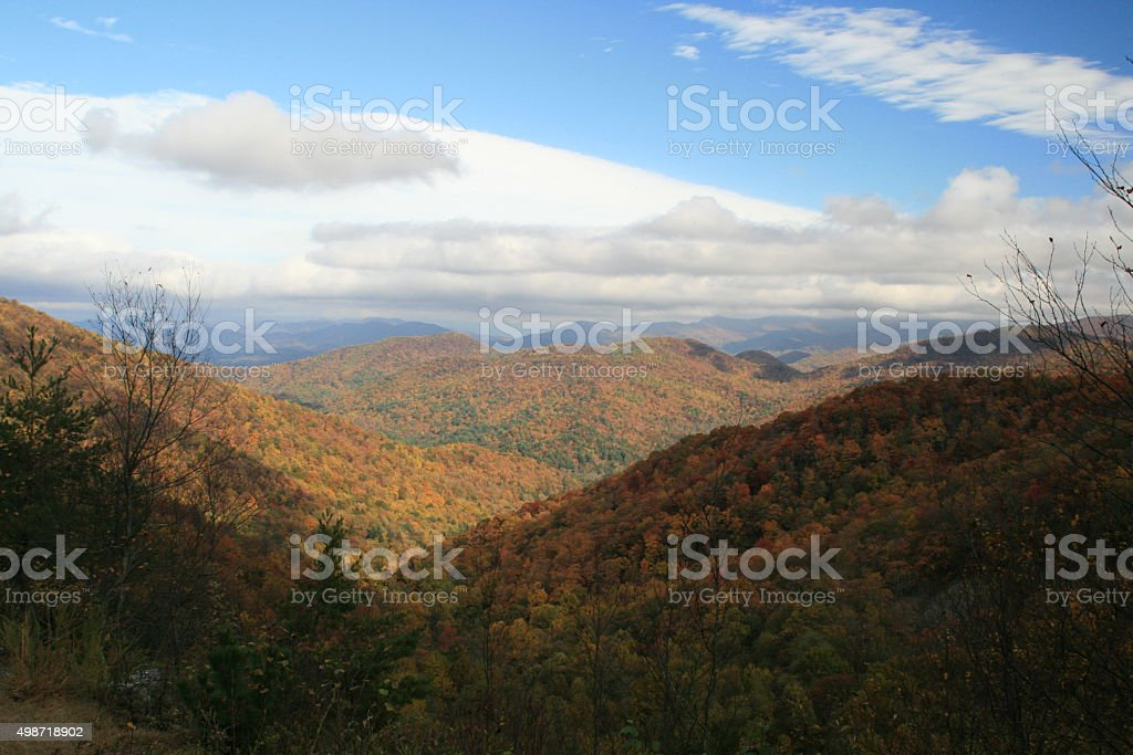 View Hogpen Gap on Russell Brasstown Scenic Byway in Georgia stock photo