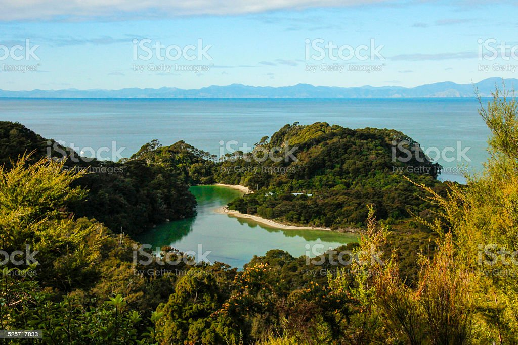 View in Abel Tasman National Park stock photo
