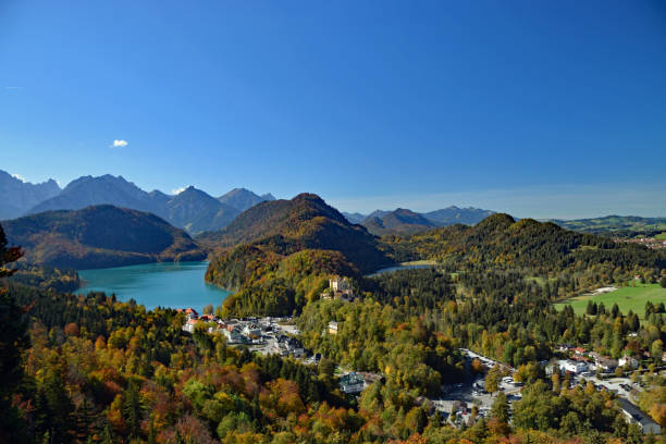 View in German Alps stock photo