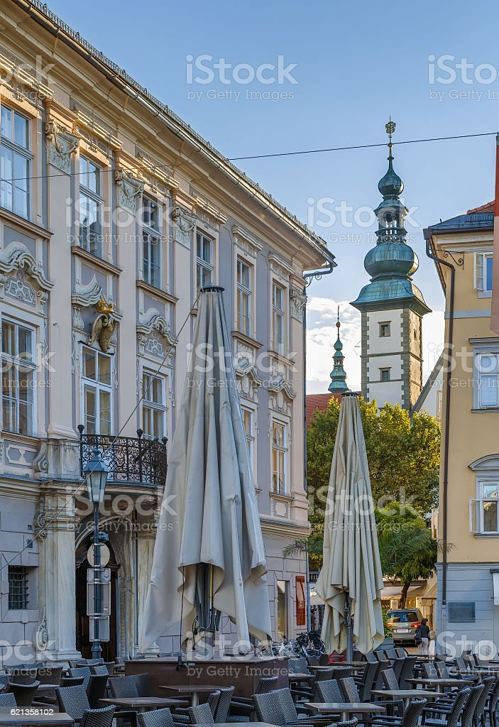 View in Klagenfurt, Austria stock photo
