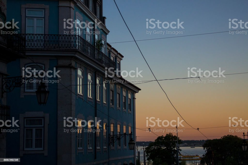 View in Lisbon stock photo