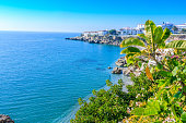istock View in Nerja with coastline and blue sky 1214538164