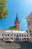 istock View in old town of Tarnow with tower of Cathedral Basilica of the Nativity of the Blessed Virgin Mary in background. 1269252837