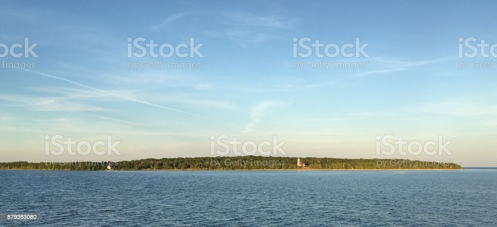 View in the Summer stock photo