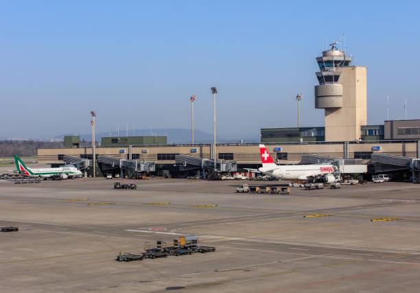Ver os no aeroporto de Zurique - foto de acervo