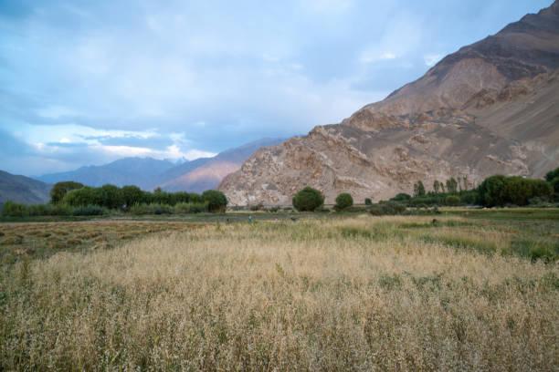 View in Wakhan Corridor in Afghanistan stock photo