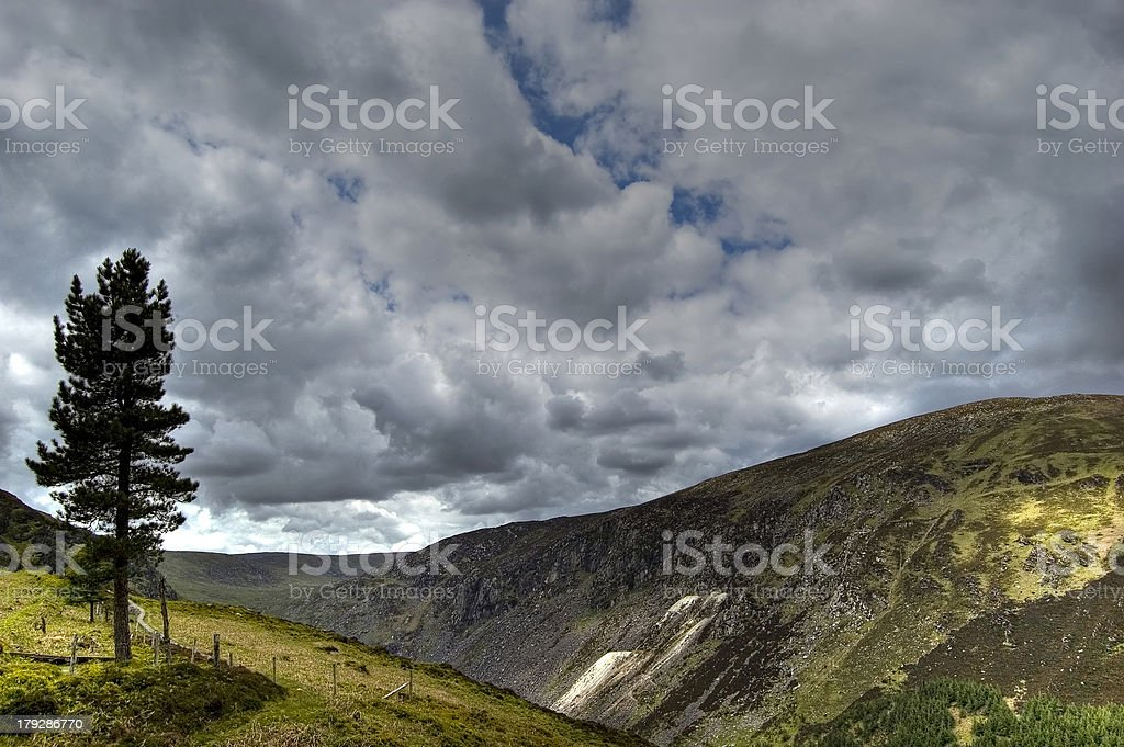 View in Wicklow Mountains. Ireland stock photo