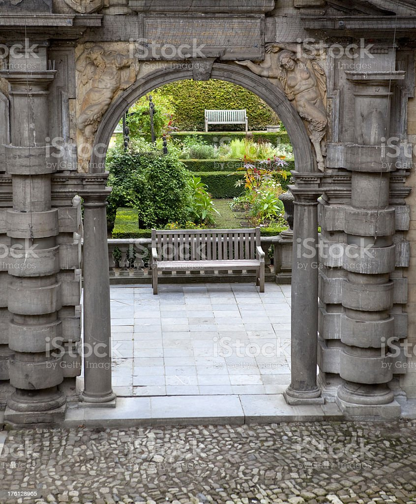 View into Formal Gardens royalty-free stock photo