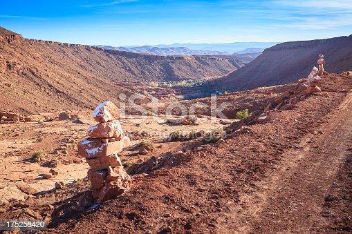 istock View into Ounila Valley between Telouet and Ait Benhaddou, Morocco 175258420