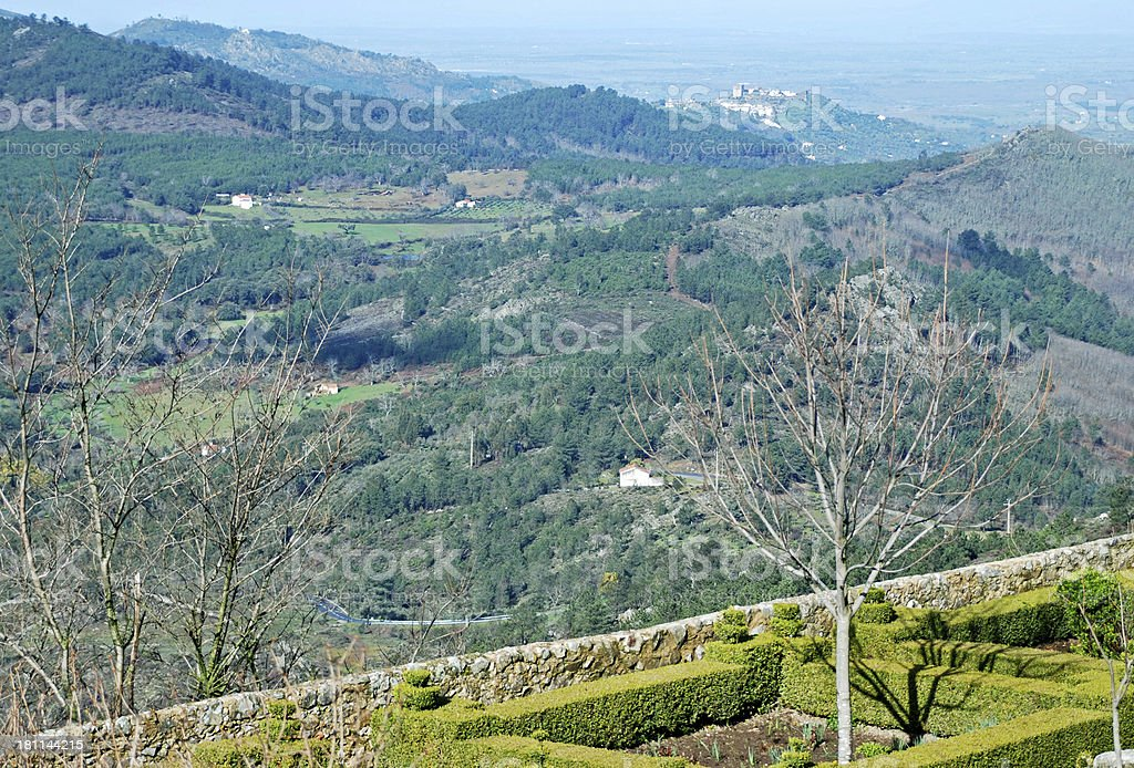 View into Portugal from frontier town of Marvao royalty-free stock photo