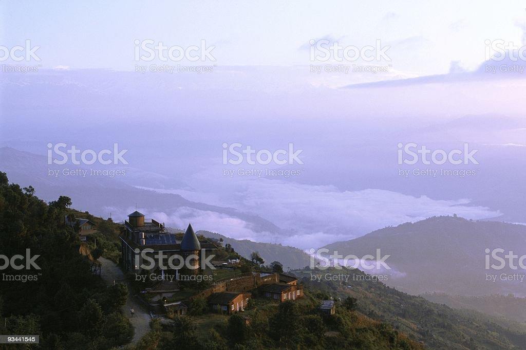 Blick auf das Kathmandu in Nepal-Tal Lizenzfreies stock-foto