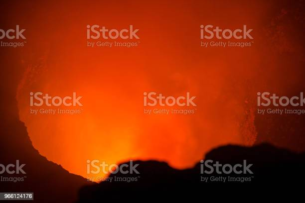 Вид На Магму Масайи Вулкано Никарагуа — стоковые фотографии и другие картинки Взрывающийся