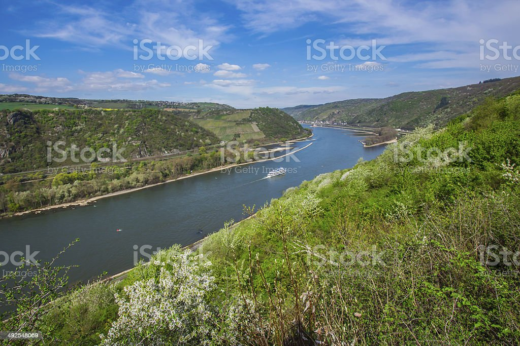 Blick ins Rheinthal stock photo