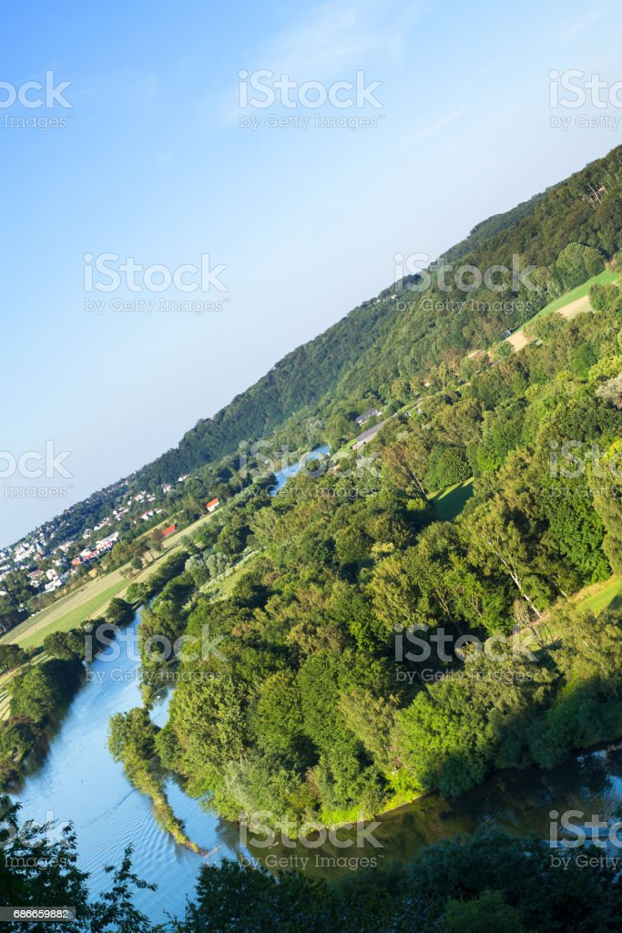 View into valley Ruhr royalty-free stock photo