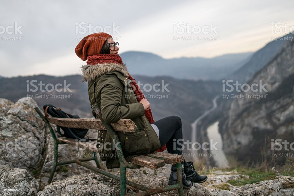 View is beautiful grom here stock photo