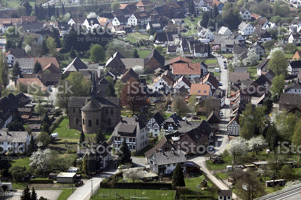 View Kemnade, a city in Germany stock photo