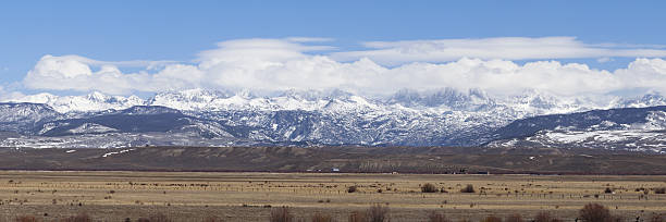 View north of Pinedale Wyoming stock photo