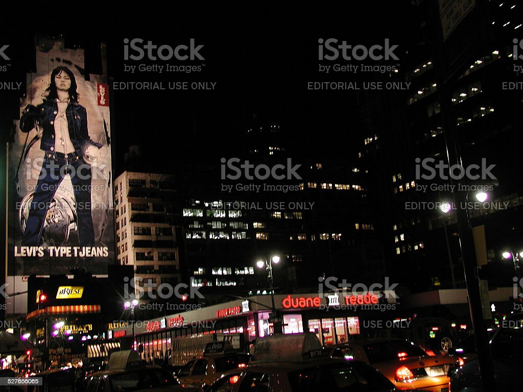 View of 8th Ave and 34th Street Midtown Chelsea 2003 stock photo
