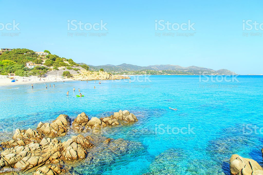 View of a beach in Sardinia royalty-free stock photo