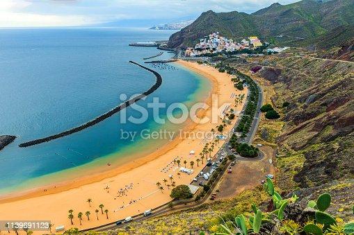View of a beautiful Beach in Canary Island, Las Teresitas,Tenerife,Spain,Nikon D850