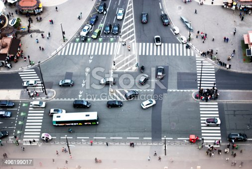 istock view of a boulevard from the Eiffel Tower 496199017