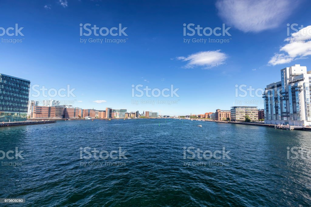 View of a Canal in Copenhagen stock photo