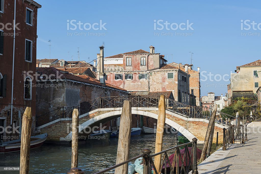View of a canal in Venice royalty-free stock photo