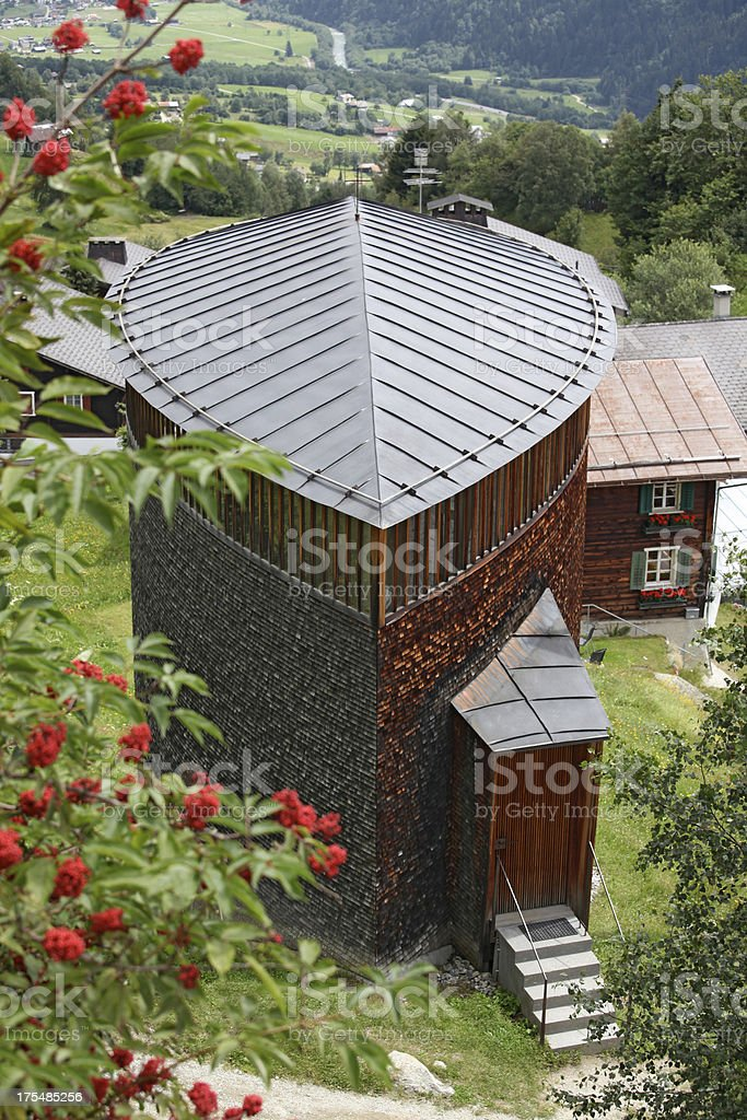 View of a chapell in Switzerland royalty-free stock photo