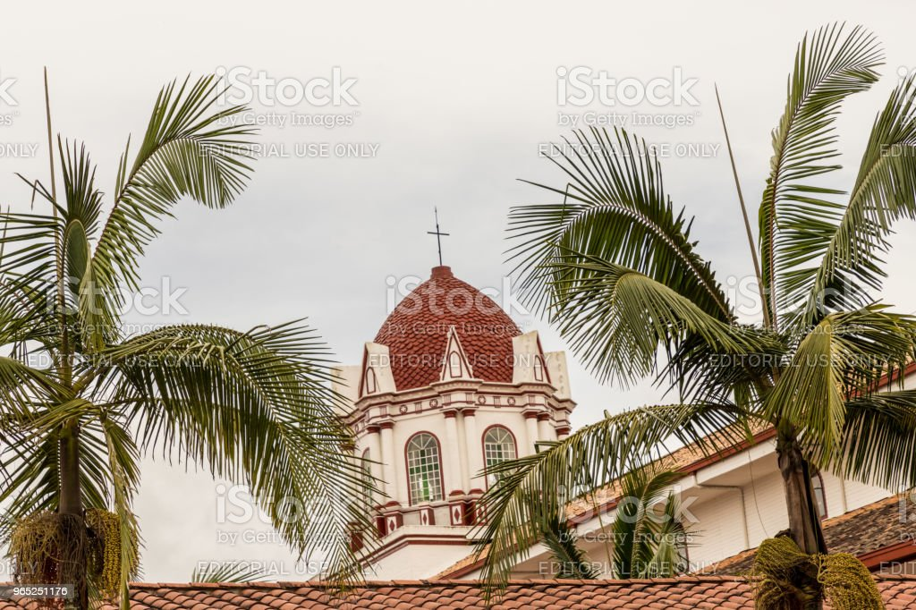 A view of a church in Colombia. zbiór zdjęć royalty-free