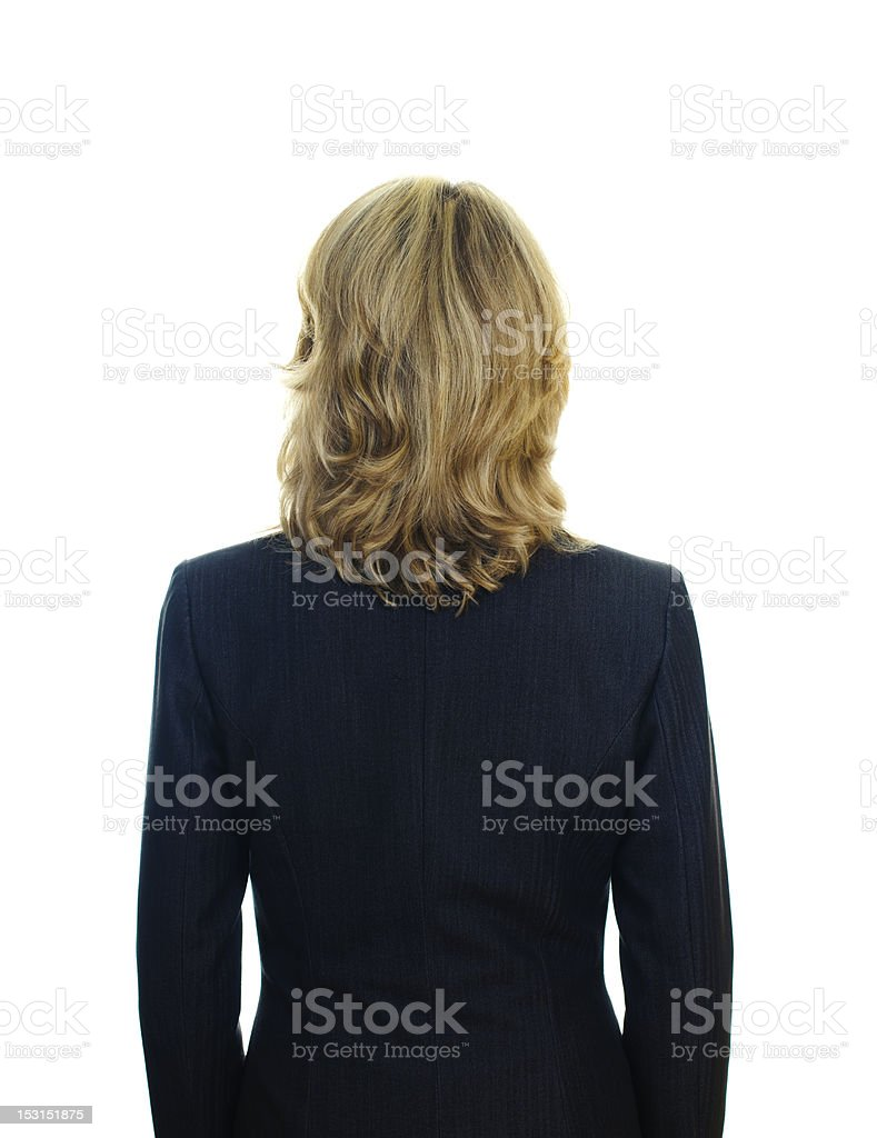view of a femail's back royalty-free stock photo