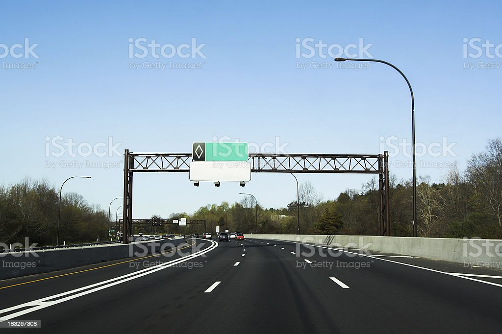 A view of a highway on a road trip royalty-free stock photo