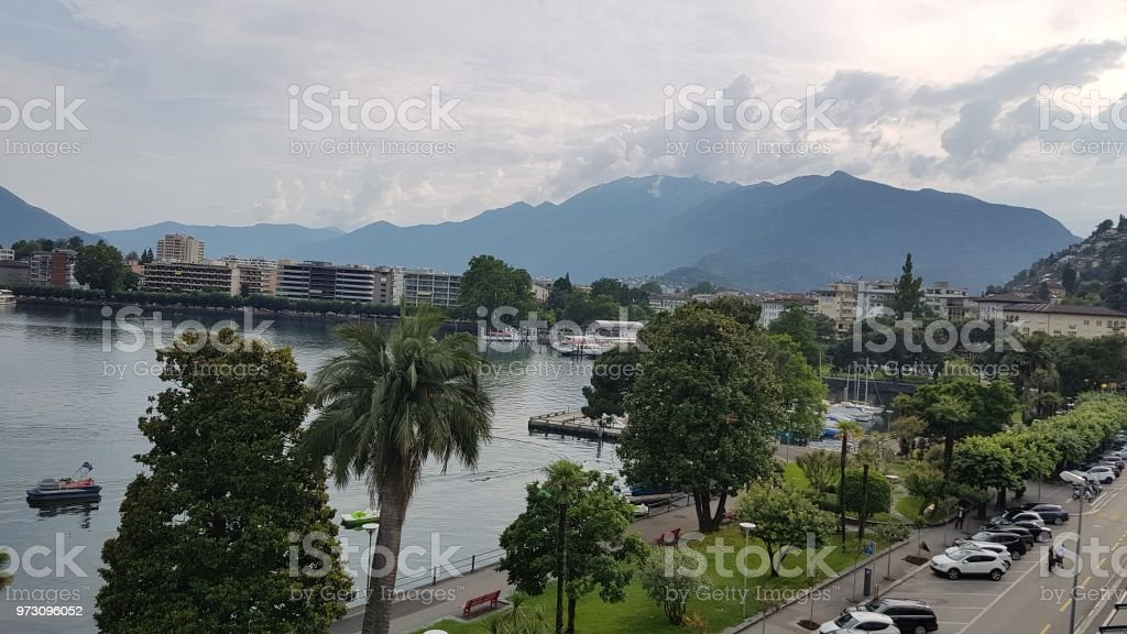 A view of a lake stock photo