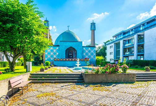View of a mosque in Hamburg