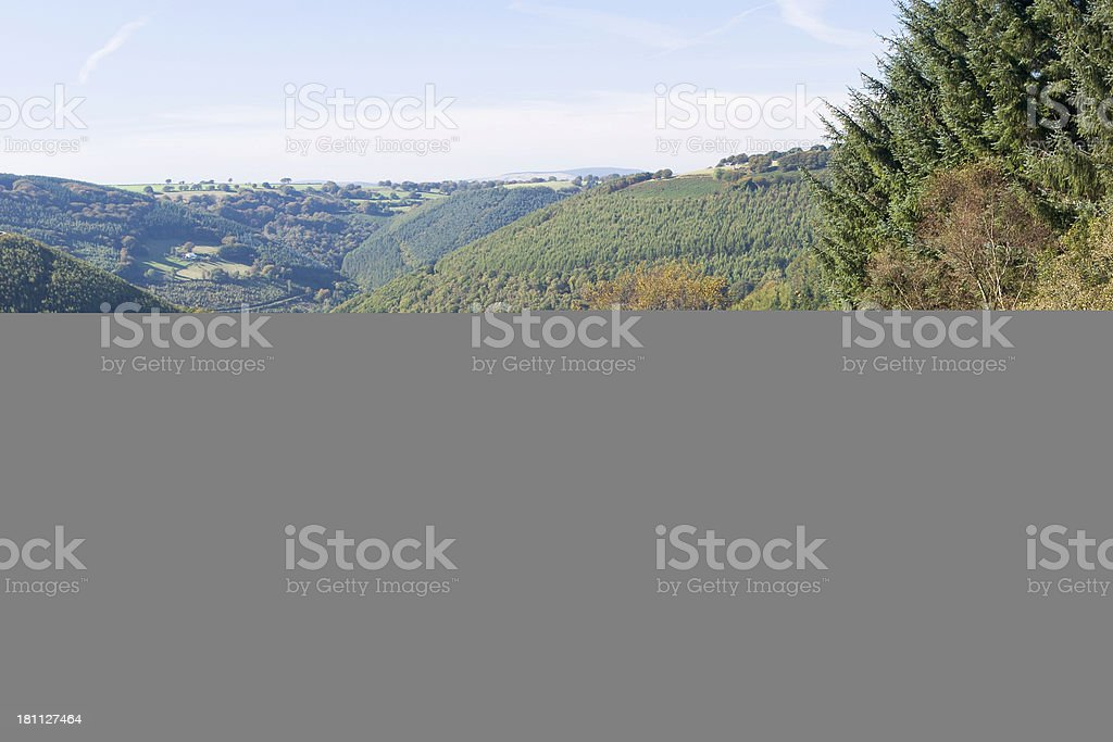 A view of a mountain range on a nice day royalty-free stock photo