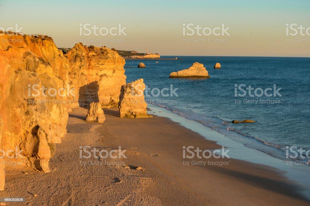 A view of a Praia da Rocha in Portimao, Algarve region, Portugal royalty-free stock photo