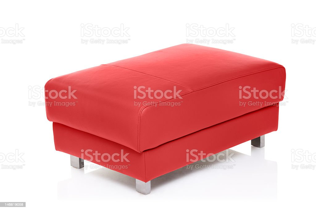 View of a red footstool stock photo